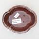 Ceramic bonsai bowl 12 x 10 x 4.5 cm, color brown - 3/3