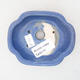 Ceramic bonsai bowl 10 x 8.5 x 3 cm, color blue - 3/3