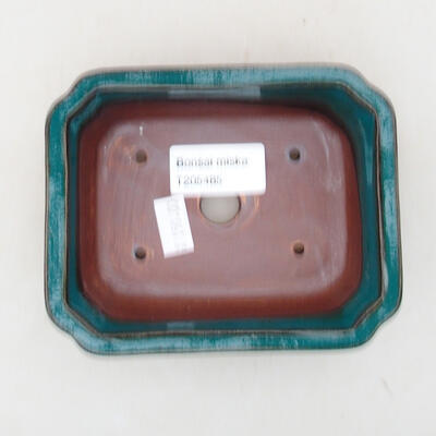 Ceramic bonsai bowl 12.5 x 10 x 4 cm, color green - 3