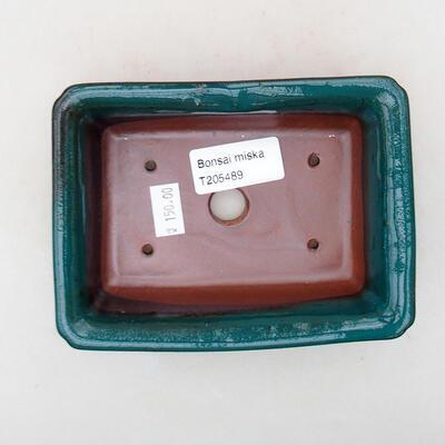 Ceramic bonsai bowl 13.5 x 10 x 3.5 cm, color green - 3