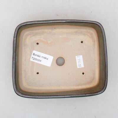 Ceramic bonsai bowl 15.5 x 12.5 x 4.5 cm, color green - 3