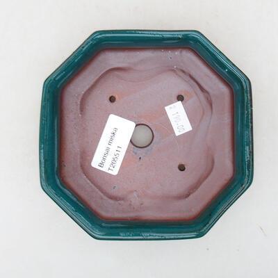 Ceramic bonsai bowl 13 x 13 x 4 cm, color green - 3