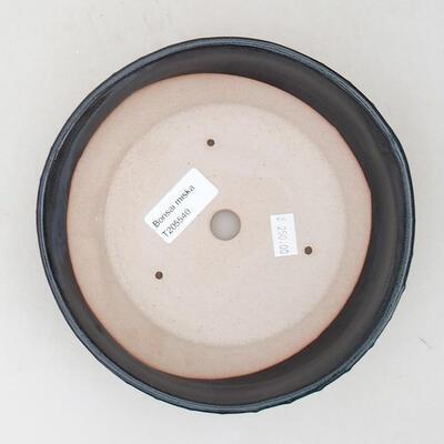 Ceramic bonsai bowl 18 x 18 x 5 cm, color gray - 3