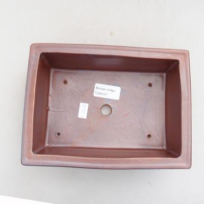 Ceramic bonsai bowl 21 x 15 x 7 cm, gray color - 3