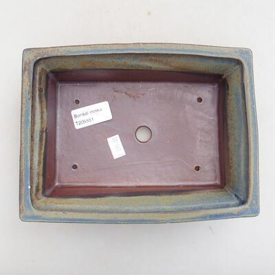 Ceramic bonsai bowl 20 x 15.5 x 6 cm, gray color - 3