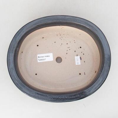 Ceramic bonsai bowl 22 x 18 x 7.5 cm, gray color - 3