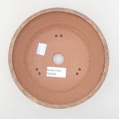 Ceramic bonsai bowl 17 x 17 x 6.5 cm, brown color - 3
