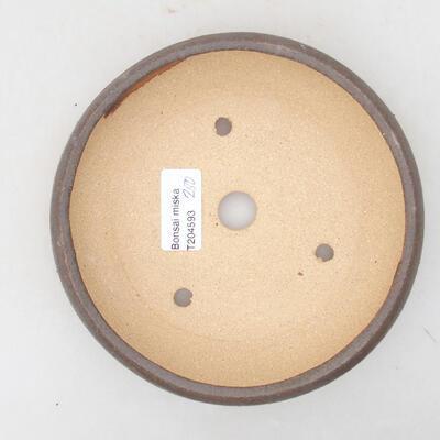 Ceramic bonsai bowl 15 x 15 x 3.5 cm, color brown - 3