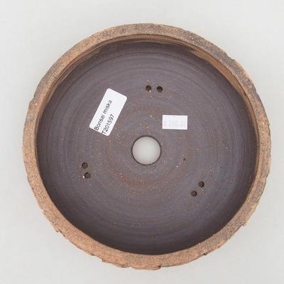 Ceramic bonsai bowl 19 x 19 x 6.5 cm, color cracked - 3