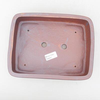 Ceramic bonsai bowl 25 x 19.5 x 6.5 cm, gray color - 3