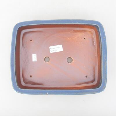 Ceramic bonsai bowl 25 x 19.5 x 6.5 cm, color blue - 3