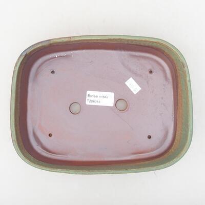 Ceramic bonsai bowl 23 x 17.5 x 5 cm, color green - 3