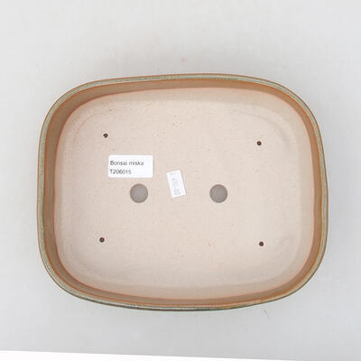 Ceramic bonsai bowl 23 x 17.5 x 5 cm, brown color - 3