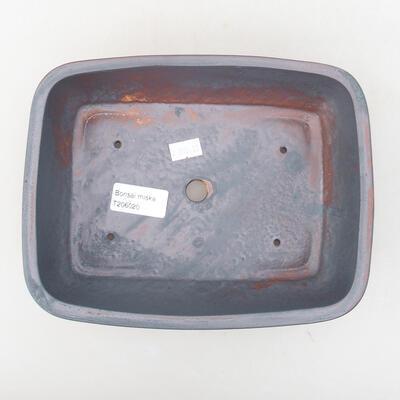 Ceramic bonsai bowl 21.5 x 16.5 x 6.5 cm, metal color - 3