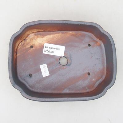Ceramic bonsai bowl 17.5 x 13.5 x 5 cm, metal color - 3