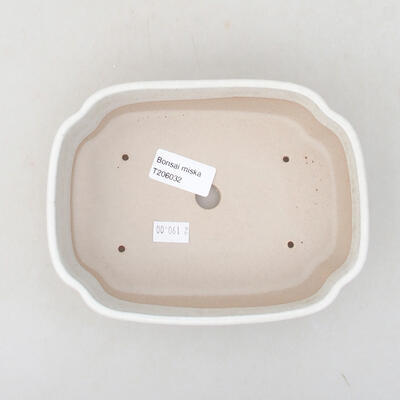 Ceramic bonsai bowl 17.5 x 13.5 x 5 cm, beige color - 3