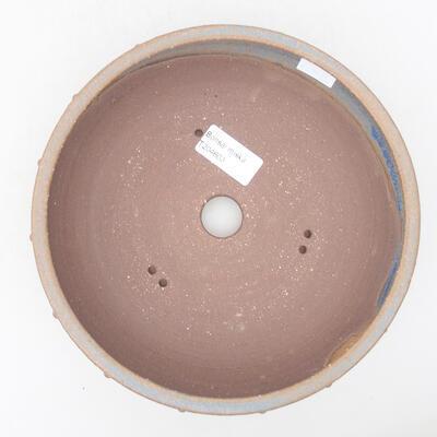 Ceramic bonsai bowl 20 x 20 x 5.5 cm, brown-blue color - 3