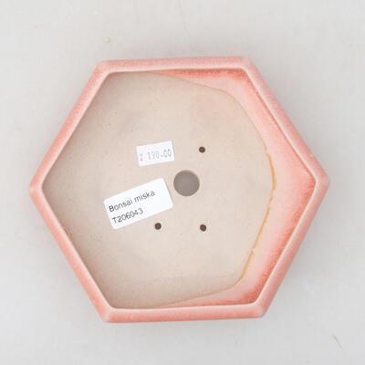 Ceramic bonsai bowl 15.5 x 14 x 3.5 cm, color pink - 3