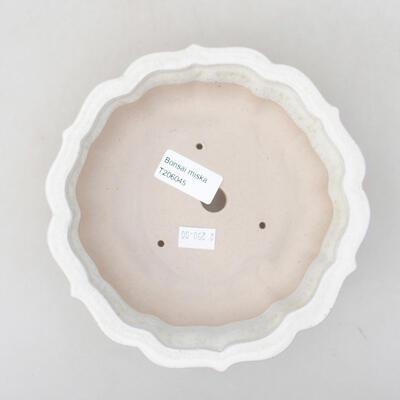 Ceramic bonsai bowl 17 x 17 x 4.5 cm, white color - 3