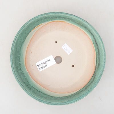 Ceramic bonsai bowl 17 x 17 x 4.5 cm, color green - 3