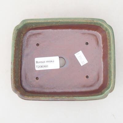 Ceramic bonsai bowl 15 x 11.5 x 4 cm, color green - 3