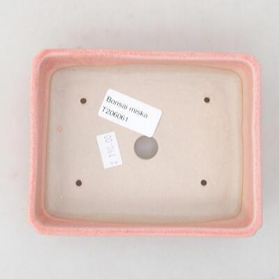 Ceramic bonsai bowl 13.5 x 11 x 3.5 cm, color pink - 3