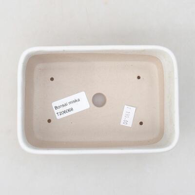 Ceramic bonsai bowl 15.5 x 10.5 x 5 cm, beige color - 3