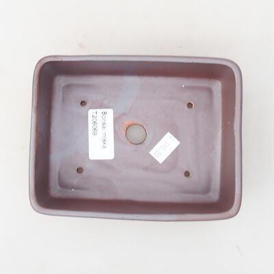 Ceramic bonsai bowl 14.5 x 11.5 x 4.5 cm, gray color - 3