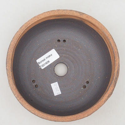 Ceramic bonsai bowl 17 x 17 x 6.5 cm, color cracked - 3
