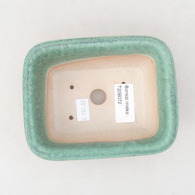 Ceramic bonsai bowl 13 x 10 x 5 cm, color green - 3