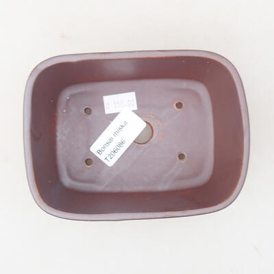 Ceramic bonsai bowl 13 x 10 x 5.5 cm, gray color - 3