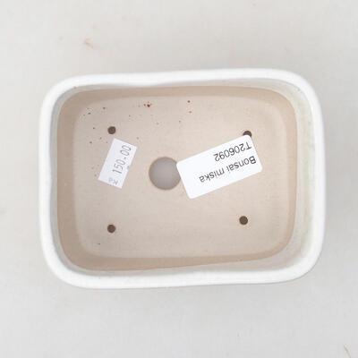 Ceramic bonsai bowl 13 x 10 x 5.5 cm, white color - 3