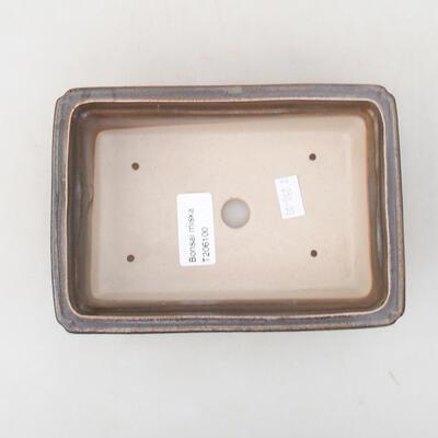 Ceramic bonsai bowl 16.5 x 11 x 5 cm, color brown-green - 3