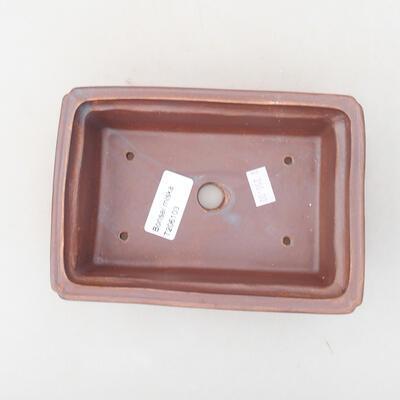 Ceramic bonsai bowl 16.5 x 11 x 5 cm, metal color - 3