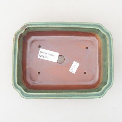Ceramic bonsai bowl 17 x 13 x 4.5 cm, color green - 3