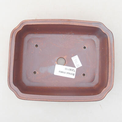 Ceramic bonsai bowl 17 x 13 x 4.5 cm, gray color - 3