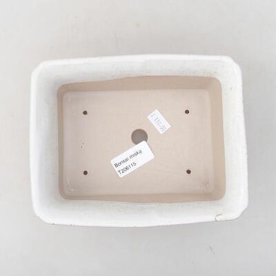 Ceramic bonsai bowl 17.5 x 14 x 7 cm, white color - 3