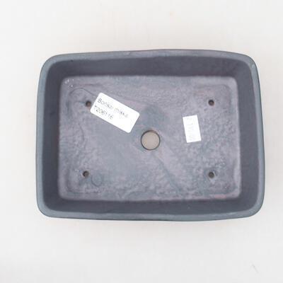 Ceramic bonsai bowl 17 x 13 x 4.5 cm, metal color - 3