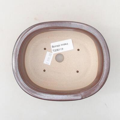 Ceramic bonsai bowl 14 x 11 x 5 cm, color brown - 3