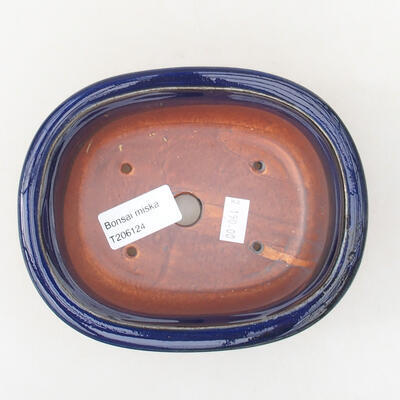 Ceramic bonsai bowl 14 x 11 x 5 cm, color blue - 3