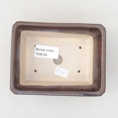 Ceramic bonsai bowl 13 x 10 x 5 cm, brown color - 3