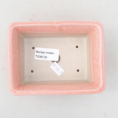 Ceramic bonsai bowl 13 x 10 x 5 cm, color pink - 3
