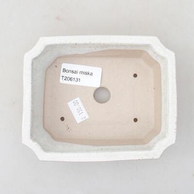 Ceramic bonsai bowl 12.5 x 10 x 4 cm, white color - 3