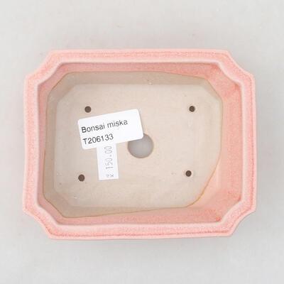 Ceramic bonsai bowl 12.5 x 10 x 4 cm, color pink - 3