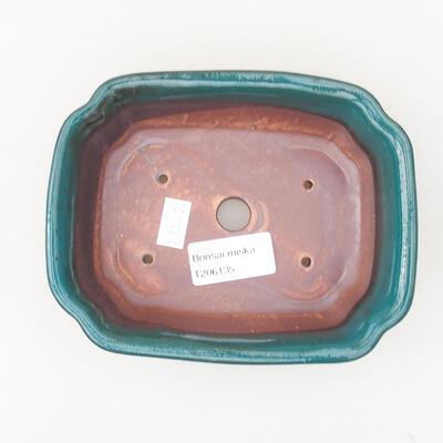 Ceramic bonsai bowl 15 x 12 x 4 cm, color green - 3