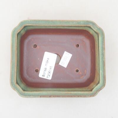 Ceramic bonsai bowl 12 x 9.5 x 4 cm, color green - 3