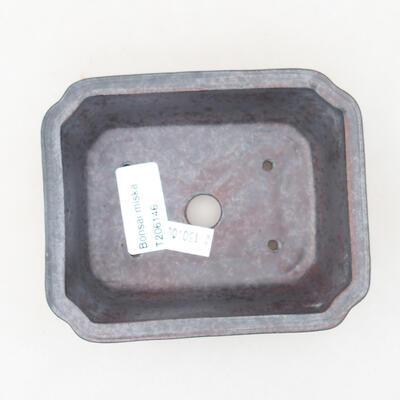 Ceramic bonsai bowl 12 x 9.5 x 4 cm, metal color - 3