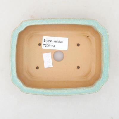Ceramic bonsai bowl 13 x 9.5 x 3.5 cm, color green - 3