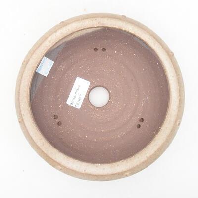 Ceramic bonsai bowl 17.5 x 17.5 x 6 cm, brown color - 3