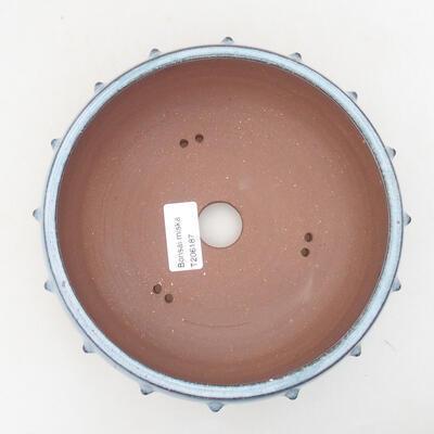 Ceramic bonsai bowl 17.5 x 17.5 x 7 cm, color blue - 3
